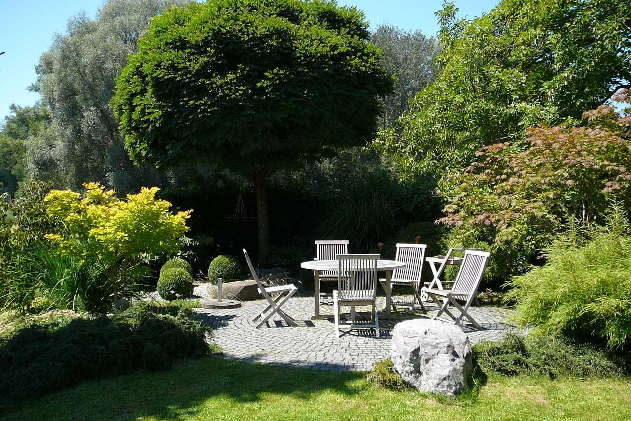 Sitzplatz im Garten Gartenbau Landschaftsbau Thomas Diederich